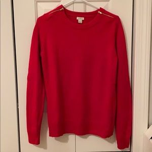 Women's JCrew Red Sweater